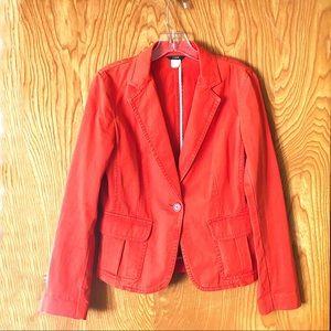 J. Crew casual blazer, orange, two pockets